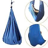 Dyna-Living - Columpio colgante (tejido elástico, 80 kg, carga para tratamiento de niños, color azul