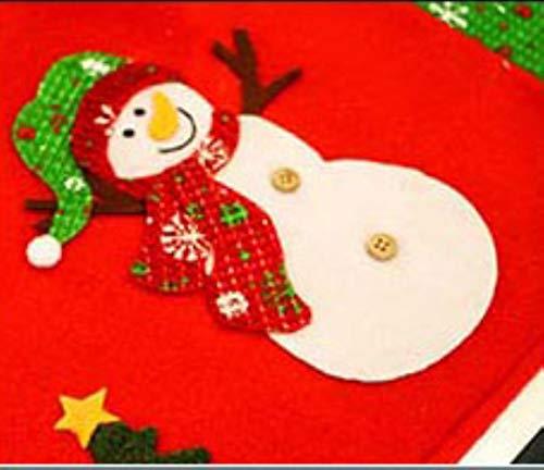 VHJ Santa Claus/Snowman/Deer Christmas Stockings Placemats Mat Decorations For Home,xue ren,34cm x 48cm