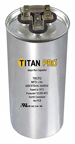TITAN PRO Motor Dual Run Cap, 60/7.5 MFD, 370-440V (TRCFD6075)
