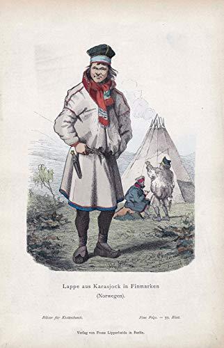 Lappe aus Karasjock in Finmarken (Norwegen). - Karasjok Troms ug Finnmark Norway Norwegen Tracht costume Kostüme