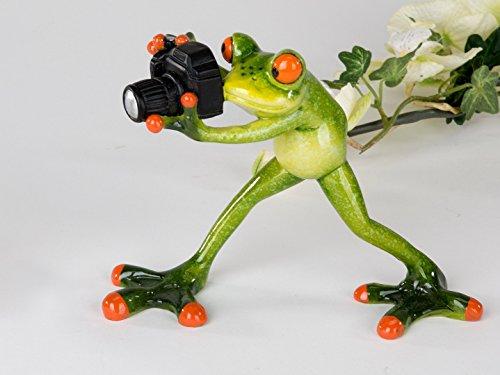 Formano lustiger Frosch mit Foto Kamera Fotograf grün 717931 Diskman Fotoaparat