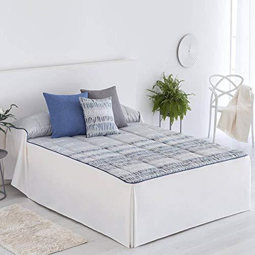 Confections Paula Tagesdecke Arona, für Bett 90 cm, Blau