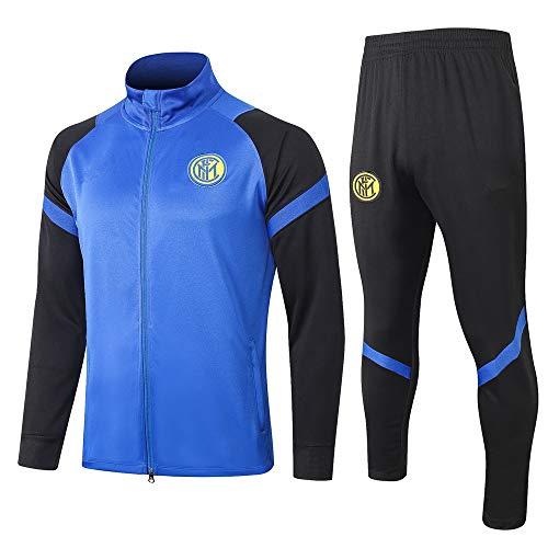 SHCOOCY Uniforme da Calcio con Giacca e Pantaloni a Righe con Cerniera@M