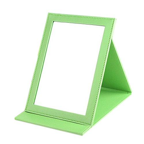 Haute Qualité cuir PU Portable / pliable Miroir pour le maquillage/Voyage,Vert