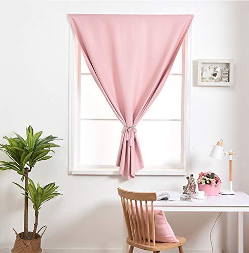 Pink 2 Panels Kamer verduisteringsgordijnen voor Living Room Doorvoertule Top linnen geweven gordijnen voor de slaapkamer,200x260cm