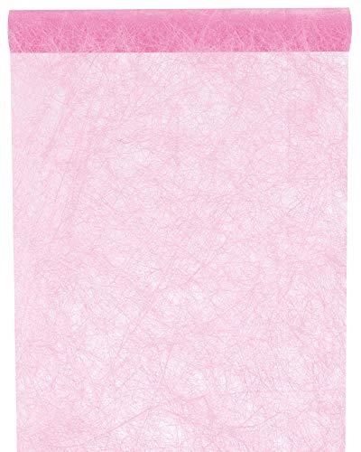 falksson Santex NEU Tischläufer Faseroptik rosa, 30cm x 5m