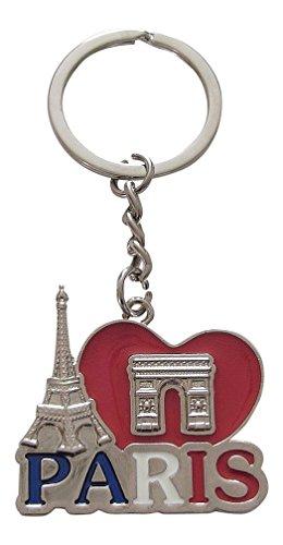 Portachiavi, Gioiello da borsetta Torre Eiffel e Arco di Trionfo, Francia, Parigi in metallo.