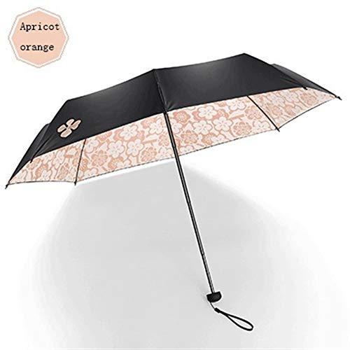 Zp umbrella Sonnenschirm Sonnenschirm Winddicht Verstärkter Rahmen, Schnelltrocknender Reiseschirm, Rutschfester Griff for einfaches Tragen.Starken Winden widerstehen. (Color : F)