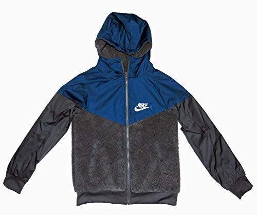 Nike Boy's Sportswear Windrunner Sherpa Jacket Large Blue Gray