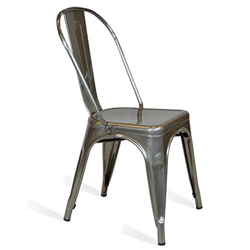 Fashion Commerce Tolix Sedie, Metallo, Argento, 45x50x60 cm, 1 Unità