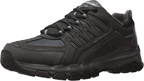 Skechers Outland 2.0-Rip-Staver, Zapatillas Altas Hombre, Negro (BBK Black Leather/Mesh/Trim), 45.5 EU