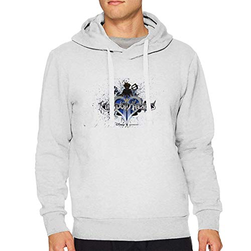 CHSUNHEY Kingdom Hearts Mans Langarm-Kapuzenpullover Sweater Pullover Pullover Hoodie