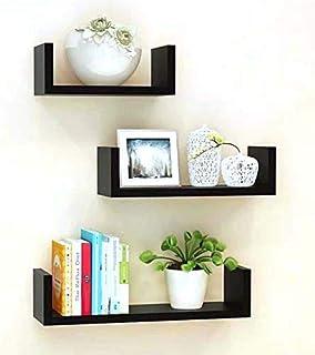 Unique Wooden Handicrafts Wooden Wall Rack Shelves Set of 3 Shelves Extra Large (5.5 x 16 x 4, 4.5 x 12 x 4, 4 x 8 x 4 inc...