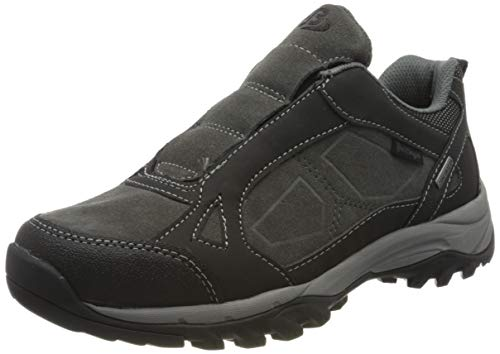 Bruetting Akron Slipper, Chaussures de Marche Nordique Homme, Gris (Grau/Schwarz Grau/Schwarz), 39 EU