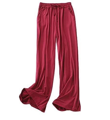 DSJJ Pantaloni della Tuta da Donna, con Coulisse, per Yoga, Corsa, Jogging (4#,L)