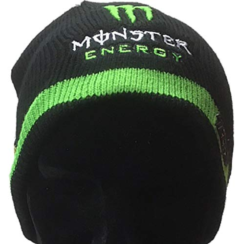 Tech3 Yamaha MotoGP Embroidered Monster Logo Black Knitted Slouch Beanie