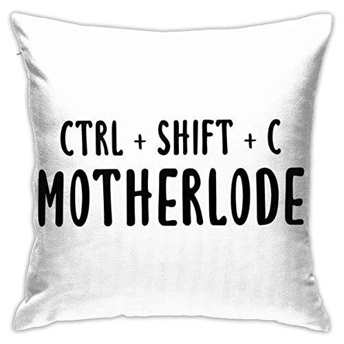 Hdadwy Strg + Umschalt + C Motherlode Home Dekorative Kissenbezüge für Sofa Couch Kissen Kissenbezüge 18x18 Zoll