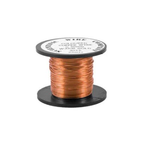 Charming Beads Kupfer Draht Blasse Bronzeton Auflage 15M Rolle 0.5mm Dicke