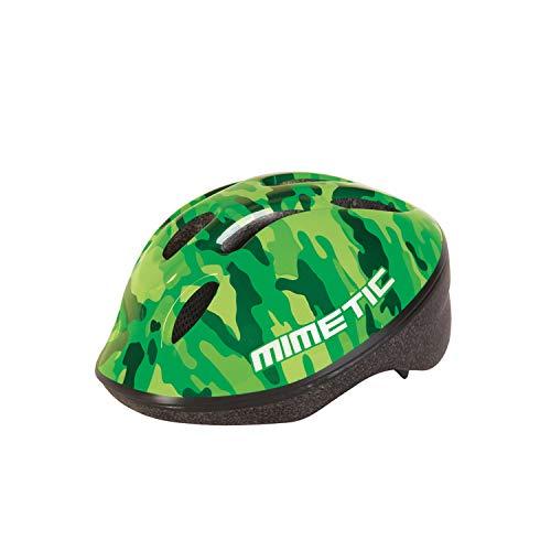 Helmet - Casco de Bicicleta para niños - Retroiluminado - Verde Camuflaje...