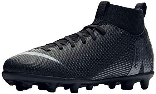 Nike Youth Soccer Superfly 6 Club Multi Ground Cleats (4 Big Kid M US) Black