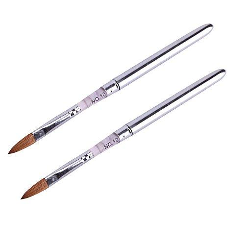 TOOGOO 2 Paquets de Pro Marbre Sable Acrylique Ongle Art Design Peinture Peinture Pinceau Stylo - taille 10