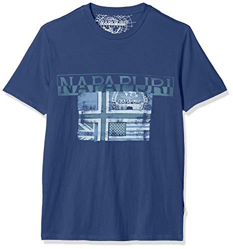 NAPAPIJRI Sawy T-Shirt, Blu (Dark Denim Bd1), Small Uomo