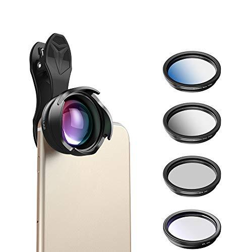 JASZW Telefon Kamera Objektiv 2.5X telephoto Portrait Bokeh objektiv mit CPL Gradual Filter ND Filter für Android ios Smartphone 70mm