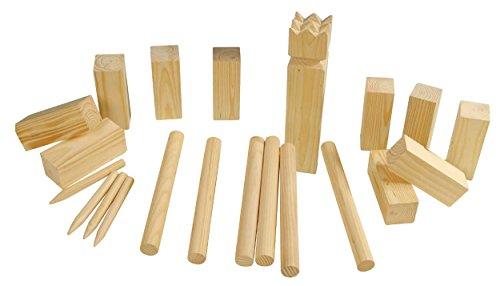 Eliware Kubb Echt-Holz Wikinger Spiel Wurfspiel 21tlg.
