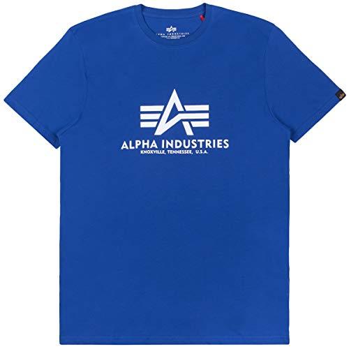 Alpha Industries - Camiseta básica de hombre azul náutico XL = XL