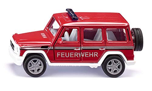 SIKU 2306, Mercedes-AMG G65 Feuerwehr-Geländewagen, 1:50, Metall/Kunststoff, Rot, Inkl. Anhängerkupplung, Öffenbare Türen, Wechselbare Räder