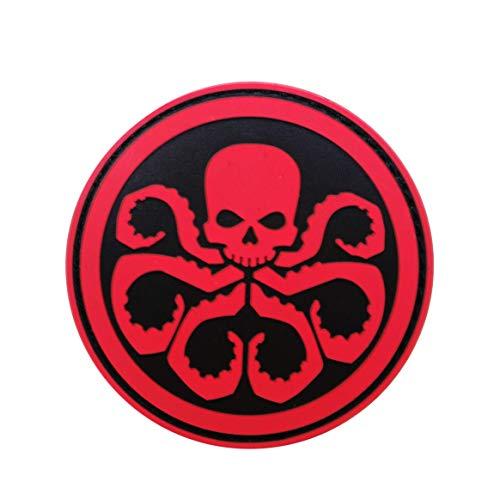 Cobra Tactical Solutions Marvel Avengers Hydra Parche PVC Táctico Moral Militar Cinta Adherente de Airsoft Cosplay Para Ropa de Mochila Táctica