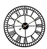 Nawxs Reloj de Pared Creativo de Estilo Europeo Hierro Forjado Hueco de Pared Redondo Reloj de Pared Reloj de Pared Reloj