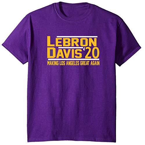 Purple Los Angeles Lebron Davis 2020 T-Shirt Adult