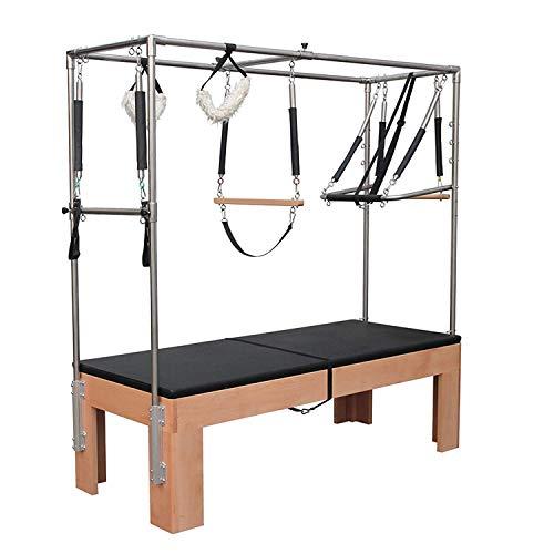 GFDDZ Equipo de Gimnasia Pilates, clásico de la Madera de Yoga Pilates reformador, Pilates Profesional para el Estudio/Home Club Cadillac Camas elevadas, Ejercicios Abdominales