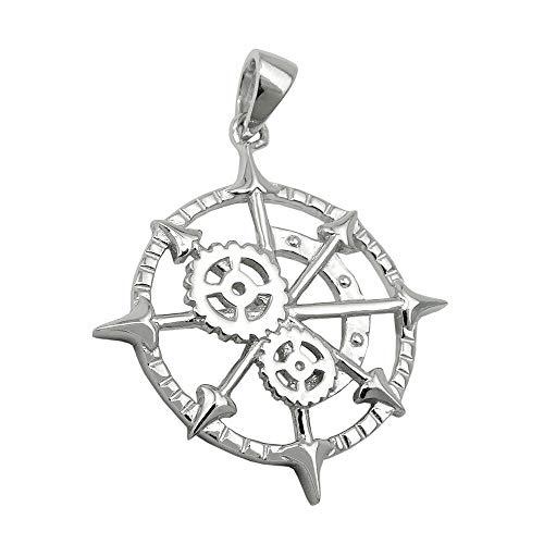 Kettenanhänger - Anhänger - nautisches Messgerät - Silber - glänzend - 925 Sterlingsilber