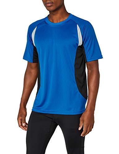 James & Nicholson Herren kurze Ärmel T-Shirt Running T blau (royal/black) XXX-Large