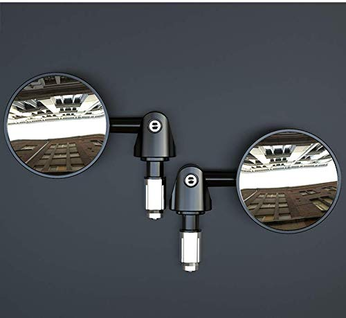 Espejo retrovisor para bicicleta, 2 unidades, ajustable, seguro espejo retrovisor para manillar plano, espejo retrovisor convexo, espejo para bicicleta de carretera, bicicleta de montaña