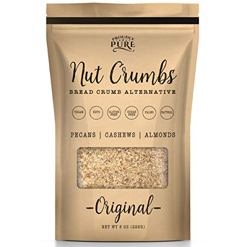 Proudly Pure Original Nut Bread Crumbs Alternative - Vegan, Kosher, Keto, Paleo, Gluten and Sugar Free, Natural Low Carb - Perfect All Purpose Mix for Meals, Desserts and Baking Single Pack 8 Oz