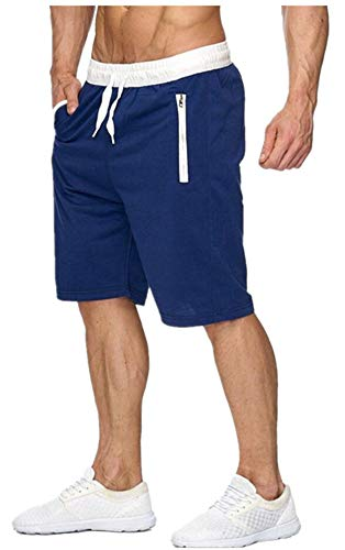 Jackdaine Pantalones de Playa para Hombre Casual de algodón de tamaño Grande, de Cinco Puntos,…