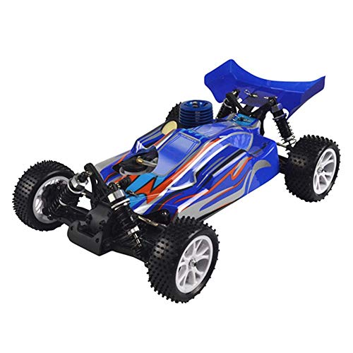 GVCTⓇ Kraftstoff Fahrzeug Spielzeug RC 4WD Nitro Buggy Auto, Maßstab 1/10 Funkgesteuerte Offroad-Simulation 18 Nitro Hand Pull Start Motor