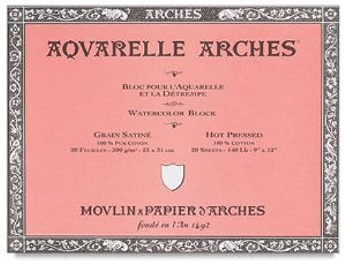 CANSON C523–89  . x 20 . 300 Arches Aquarell Papier mit Hot Press, Natural Weißvon B n