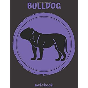 Bulldog notebook: 8.5 x 11 inch inch dog notebook,120 pages with pretty matte cover 34
