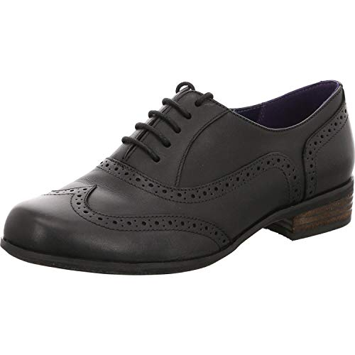 Clarks Damen Hamble Oak Brogue Schnürhalbschuhe, Schwarz (Black Leather), 43 EU