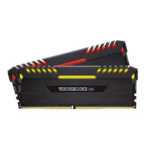 Corsair Vengeance RGB - Kit de Memoria Entusiasta de 16 GB (2 x 8 GB, DDR4, 3200 MHz, C16, XMP 2.0) Negro