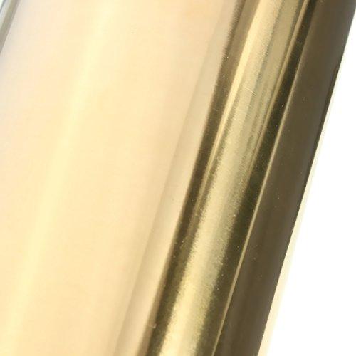 Rollo de lámina fina de metal de latón de 0,2 x 200 x 300 mm para manualidades, metalurgia (oro)