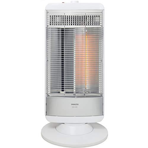 [山善] 速暖カーボンヒーター&遠赤外線シーズヒーター搭載 ツインヒート(500W/950W 2段階切替) 自動首振り機能付 ホワイトシルバー DBC-L095(WS) [メーカー保証1年]