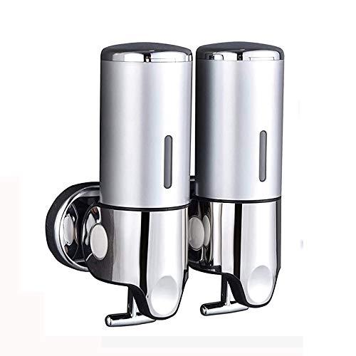 Dispensador de jabón para fijación en la pared, dispensador de jabón de manos para cocina, baño, champú y gel de ducha (1000 ml)