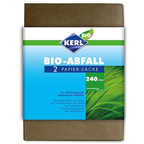 KERL Bio-Abfallsäcke, Papier 240 l, 2 Stück