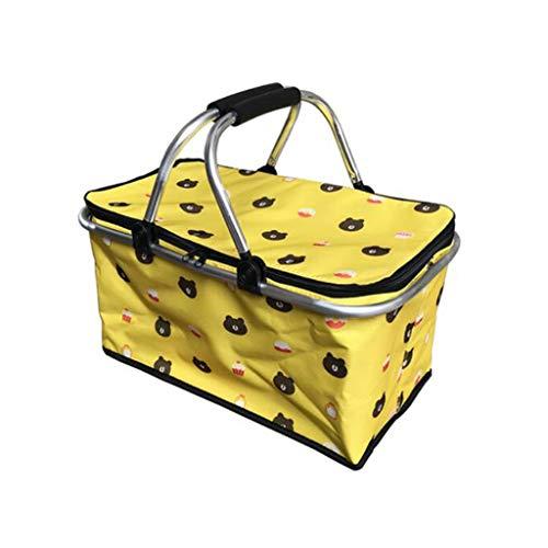 cesta con tapa con efecto mimbre de la marca QWZ