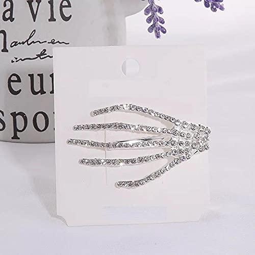 U/N Pinzas para el Cabello de Calavera con Diamantes de imitación de Cristal para Mujer, Horquillas para Fiesta de Halloween, Pasador para la Cabeza-2